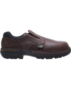 HYTEST BRN LEATHER SLIP ON MET
