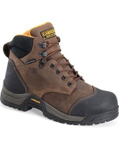 "CAROLINA BRUNO ELECTROSTATIC DISSIPATIVE WATERPROOF BROAD COMP TOE 6"" WORK BOOT"