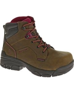 "WOLVERINE WOMENS MERLIN WATERPROOF COMP TOE 6"" WORK BOOT"